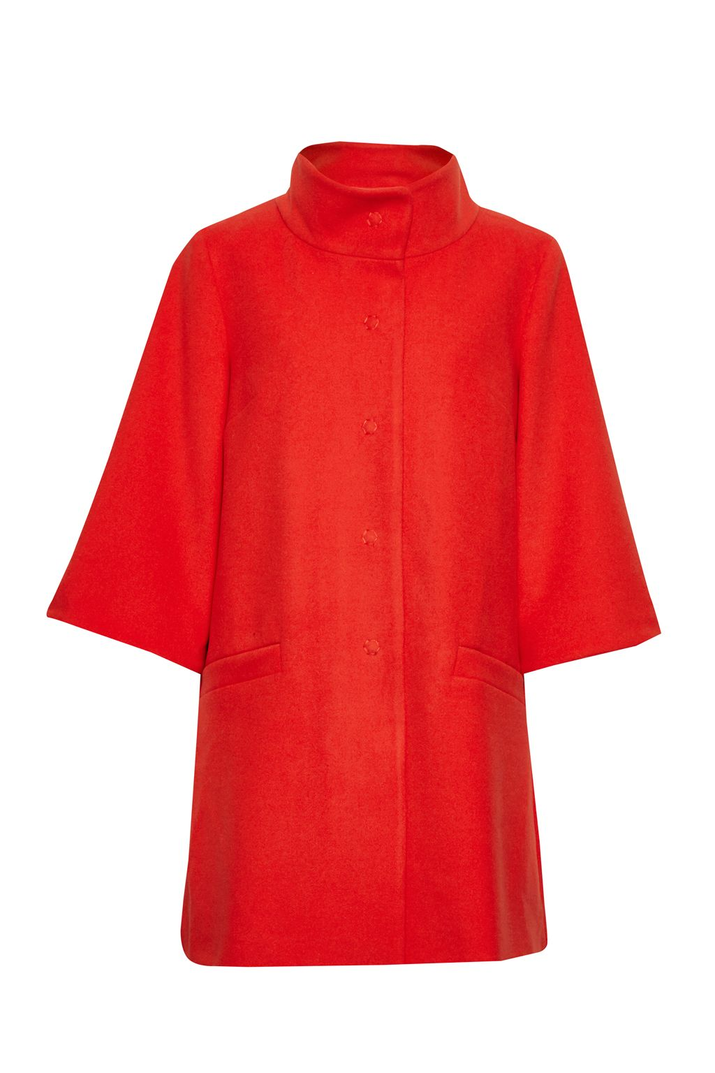 Great Plains Chester Bell Sleeves Swing Coat, Red