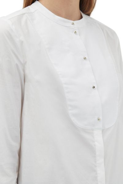 French Connection Southside Cotton Bib Shirt