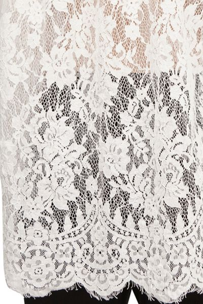 French Connection Belle Cotton Lace Back Shirt