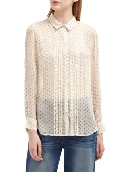 French Connection Daisy Star Sheer Shirt