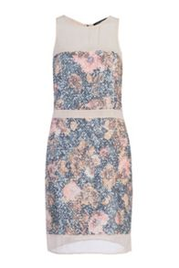 French Connection Adeline Dream Floral Sequin Dress