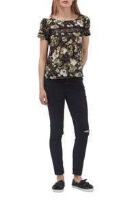 French Connection Adeline Dream Floral Lace Top