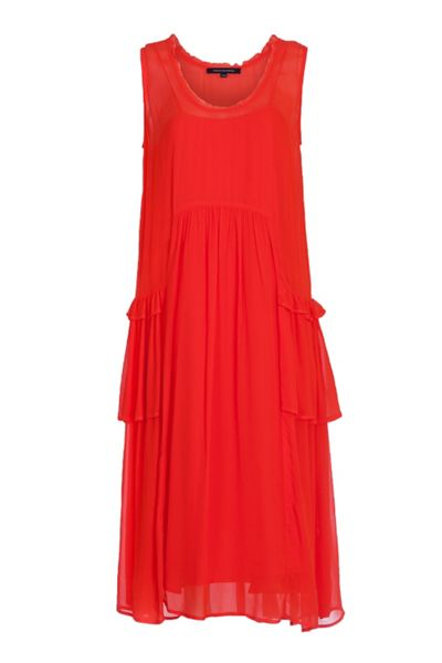 French Connection Rosie Drape Ruffled Dress