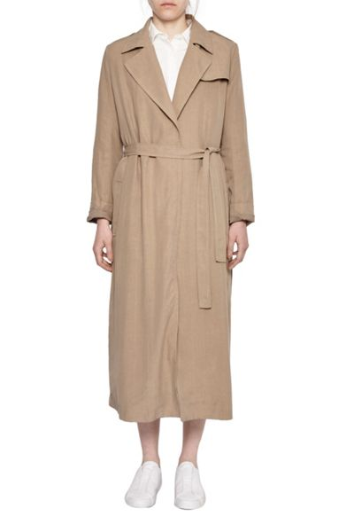 French Connection Sidewalk Drape Belted Duster Coat