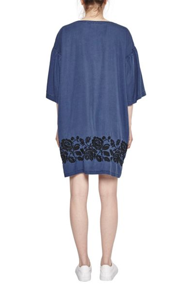 French Connection Mai Stitch Floral Embroidered Tunic Dress