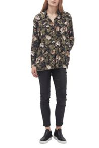 French Connection Adeline Dream Camo Relaxed Shirt