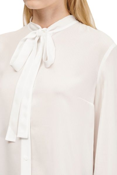 French Connection Pippa Plains Tie Neck Shirt