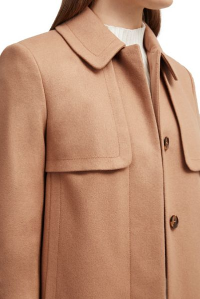 French Connection Platform Felt Collared Coat