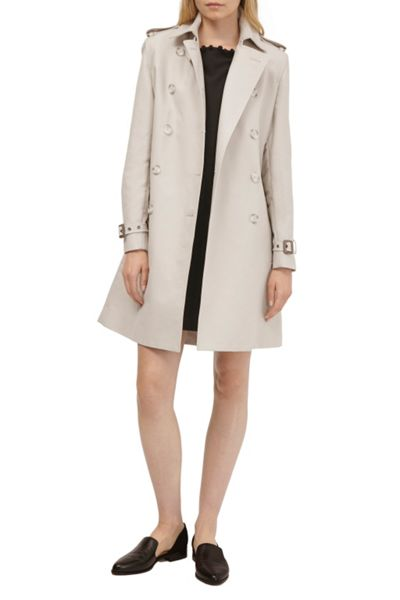 French Connection Freeway Cotton Belted Trench Coat