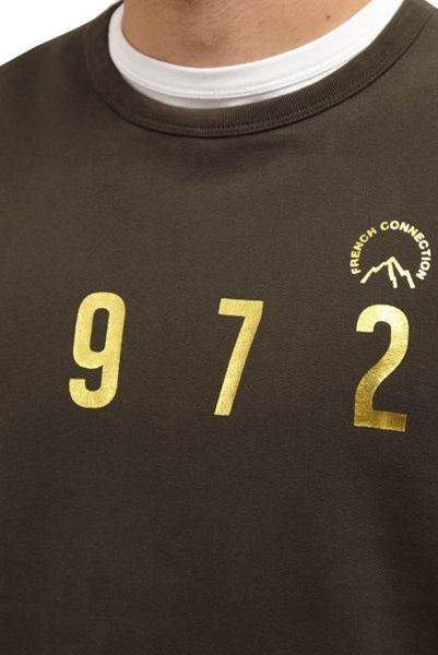 French Connection 1972 Gold Strike Slogan Sweatshirt