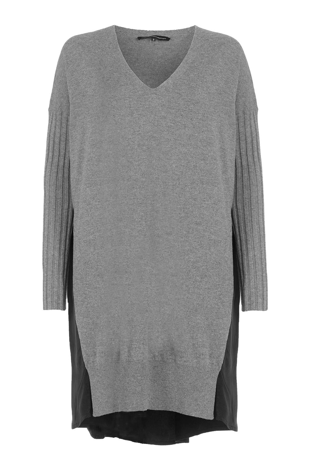 French Connection Aries Knits Wool Jumper Dress, Grey