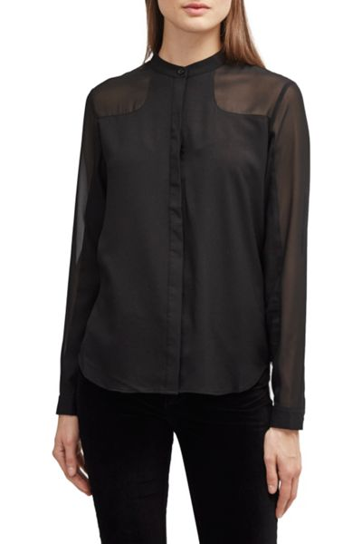French Connection Polly Plains Collarless Shirt