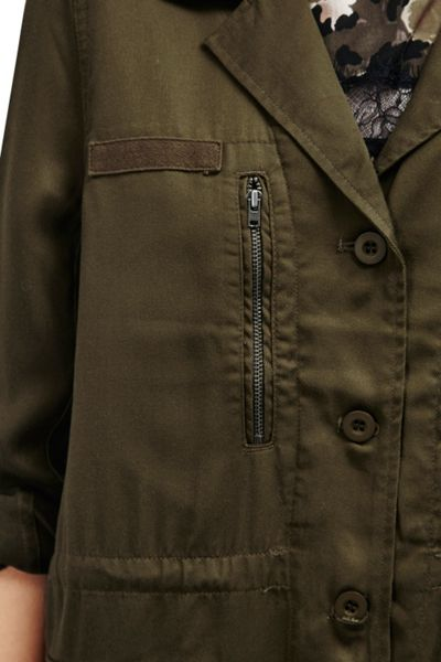French Connection Utility Twill Tencel Jacket