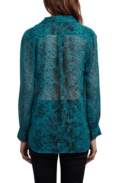 Great Plains Python Sheer Chiffon Shirt