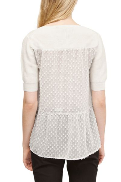 French Connection Bow Fringe Knits Jumper
