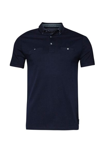 French Connection Winter Premium Knit Collar Polo Shirt