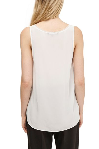 French Connection Super Silk Sleeveless Tank Top