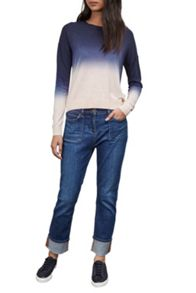 Great Plains Dip Dye Dora Pointelle Neck Jumper