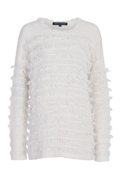 French Connection Pointelle Fringing Jumper