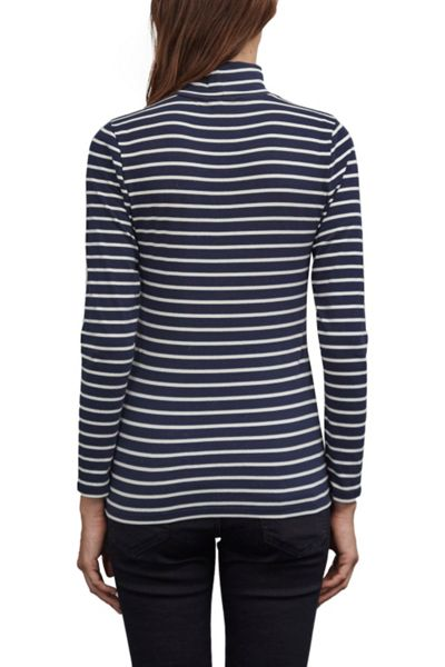 Great Plains Weekend Stripe Polo Neck Top