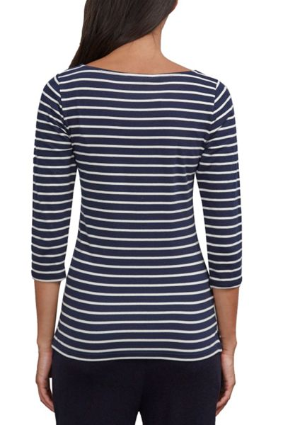 Great Plains Weekend Stripe 3/4 Sleeve Top