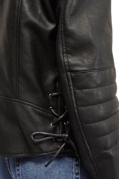 French Connection Blackbird PU Biker Jacket