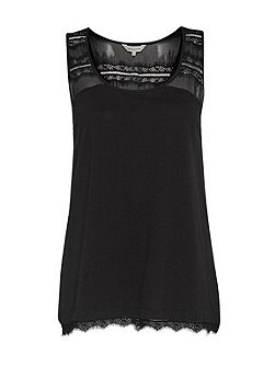 Featherweight Jersey Lace Tank Top