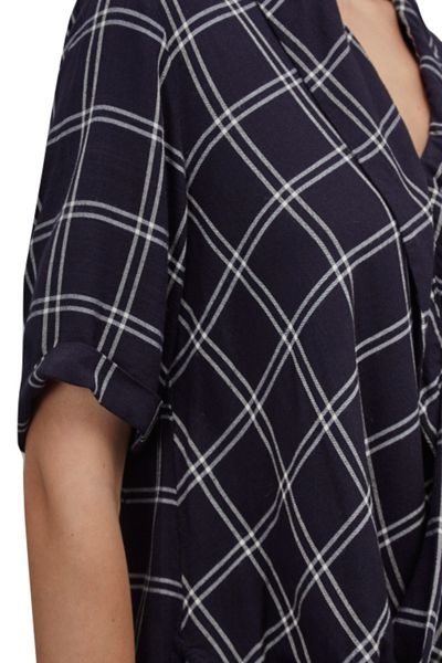 Great Plains Chequers Drape Top