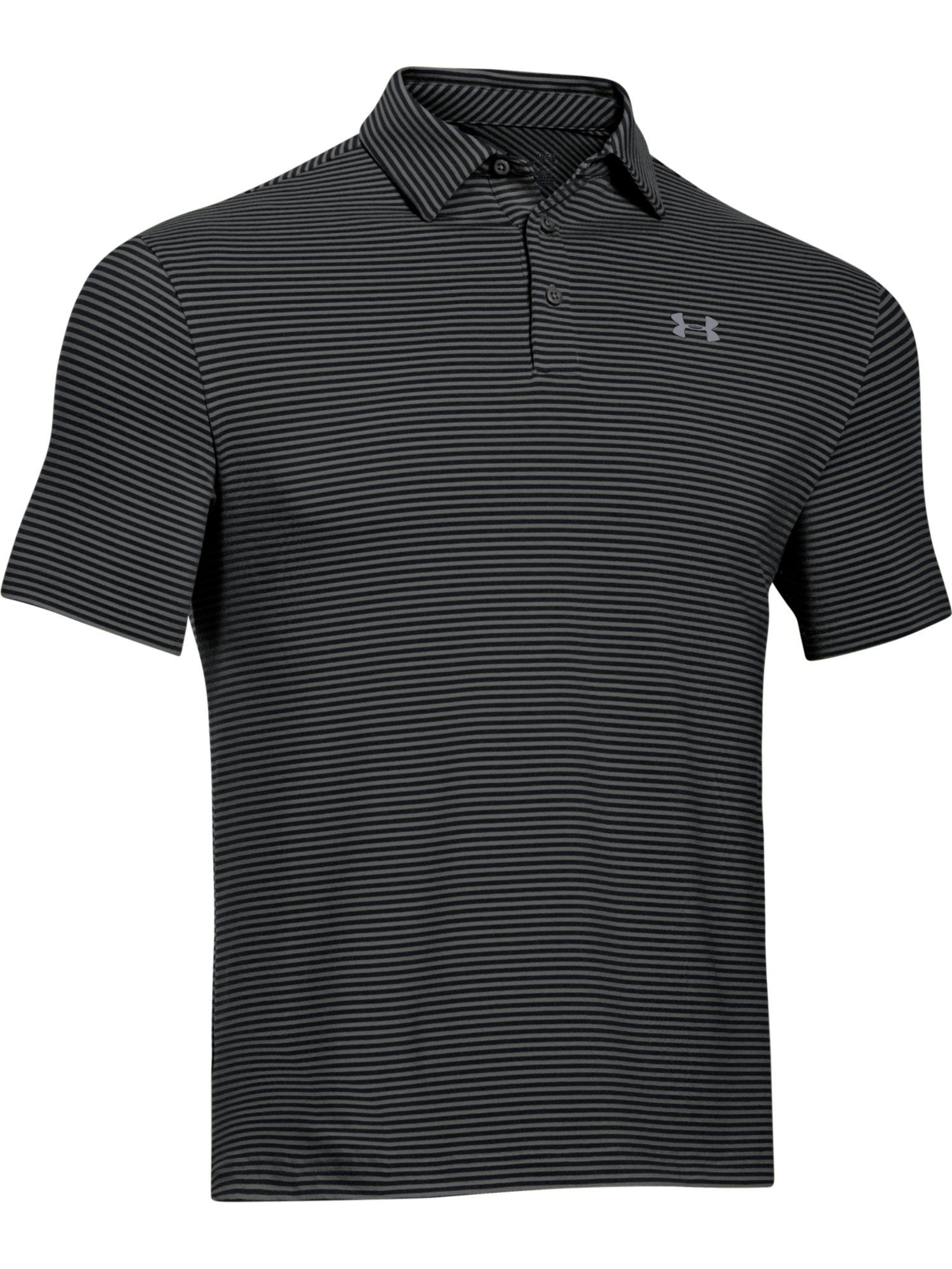 Elevated heather stripe polo