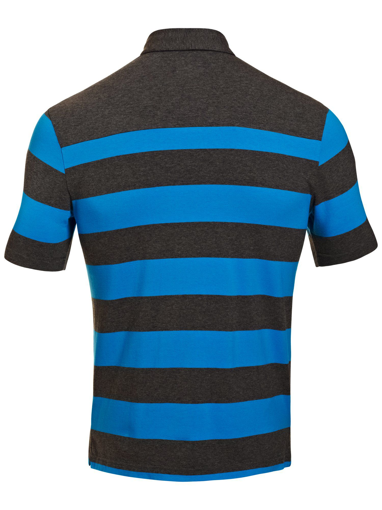 Charged cotton stripe polo
