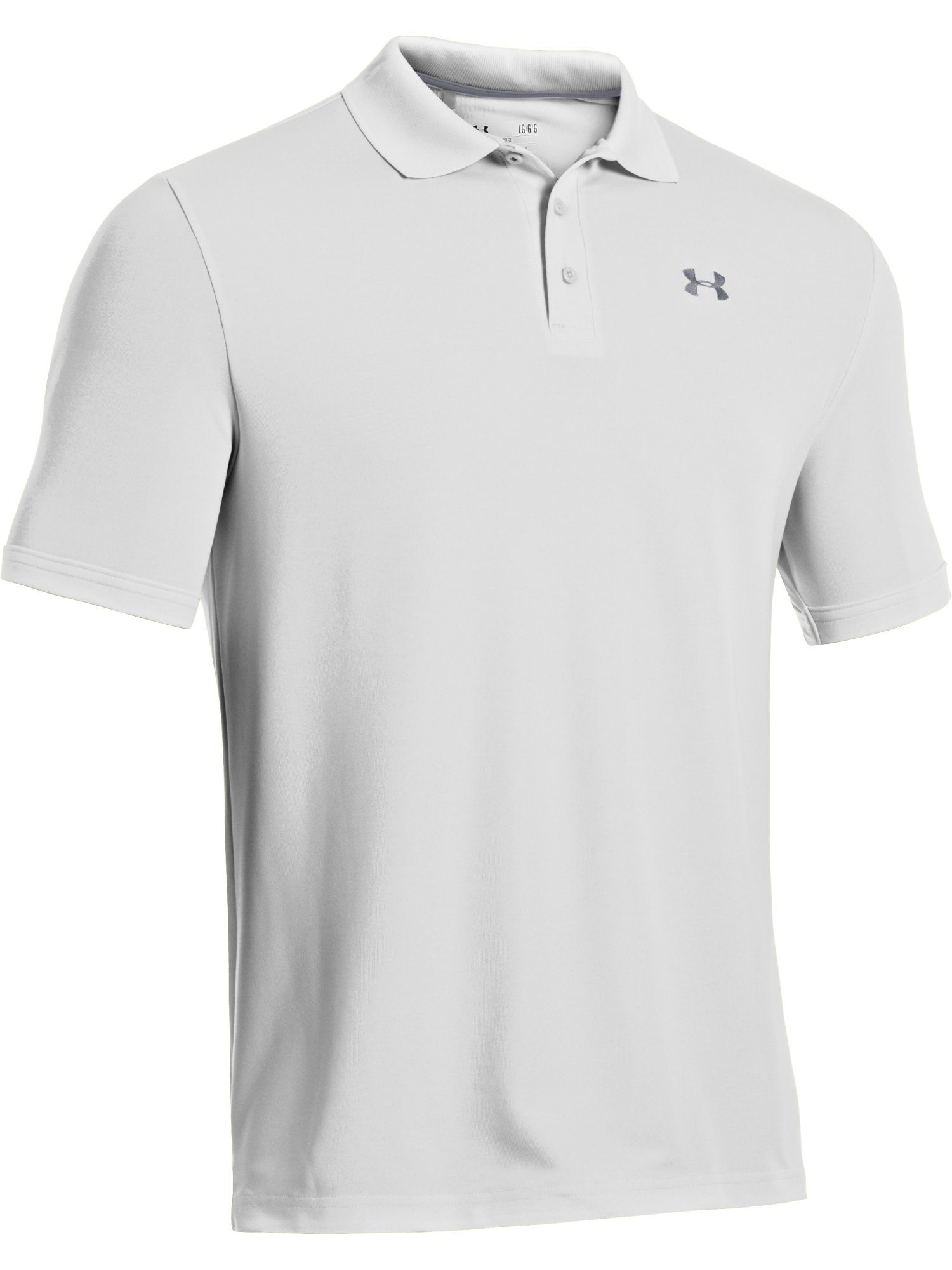 Men's Under Armour Performance Polo, Optic White