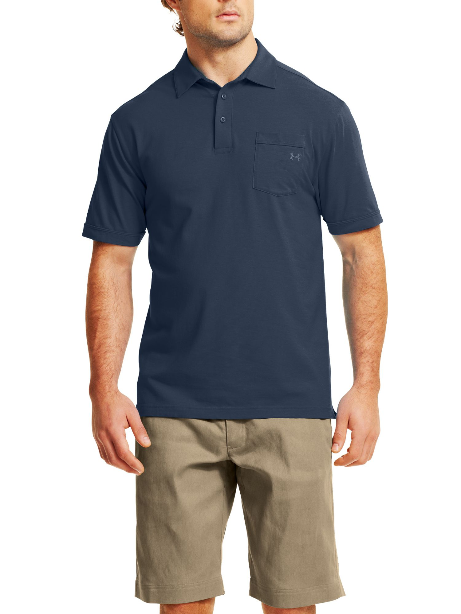 Charged cotton pocket polo