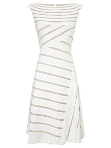 Adrianna Papell Banded A-line dress