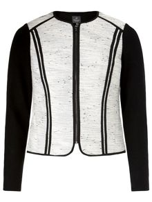 Long sleeve boucle jacket