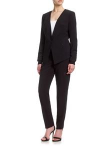 Adrianna Papell Crepe single-breasted fitted jacket