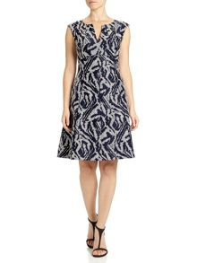 Adrianna Papell Fit and flare cap sleeve summer dress