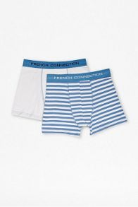 French Connection Stripe and plain 2 pack in a pouch