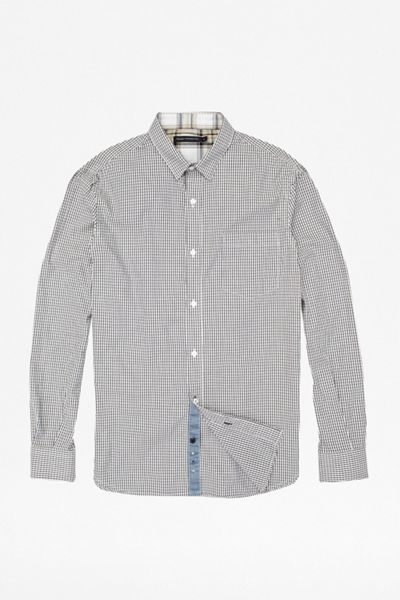 French Connection Wax Job Gingham Shirt