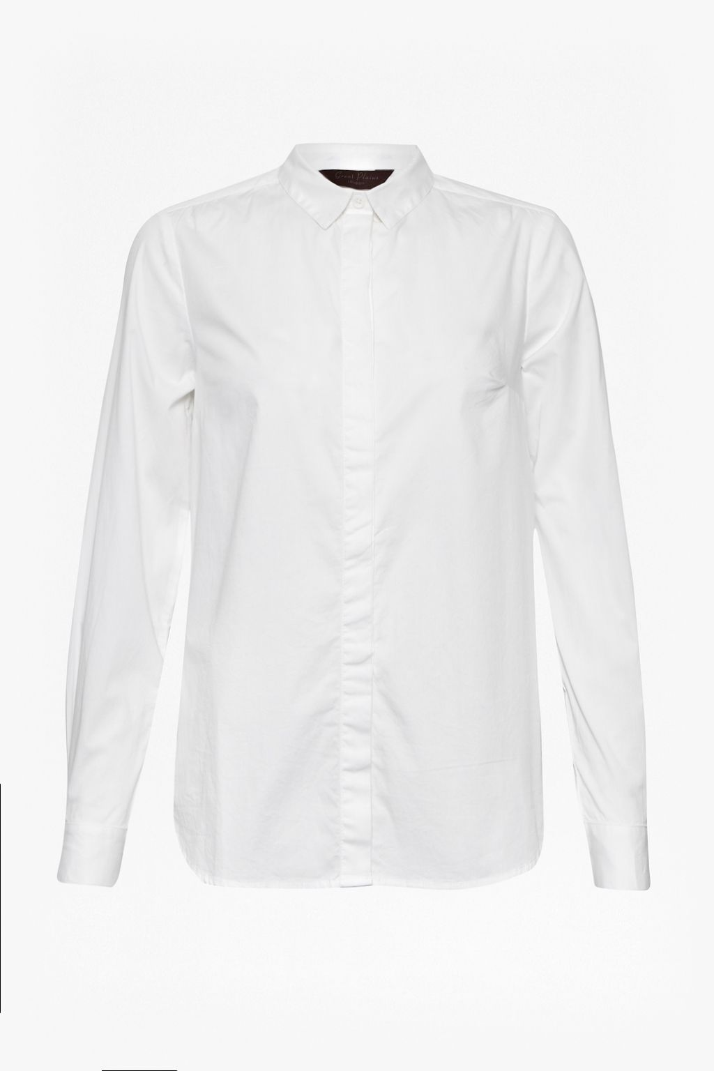Great Plains Classic Stretch Cotton Shirt, Winter White