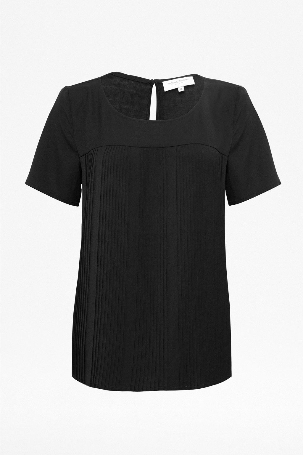 Polly plains pleats top