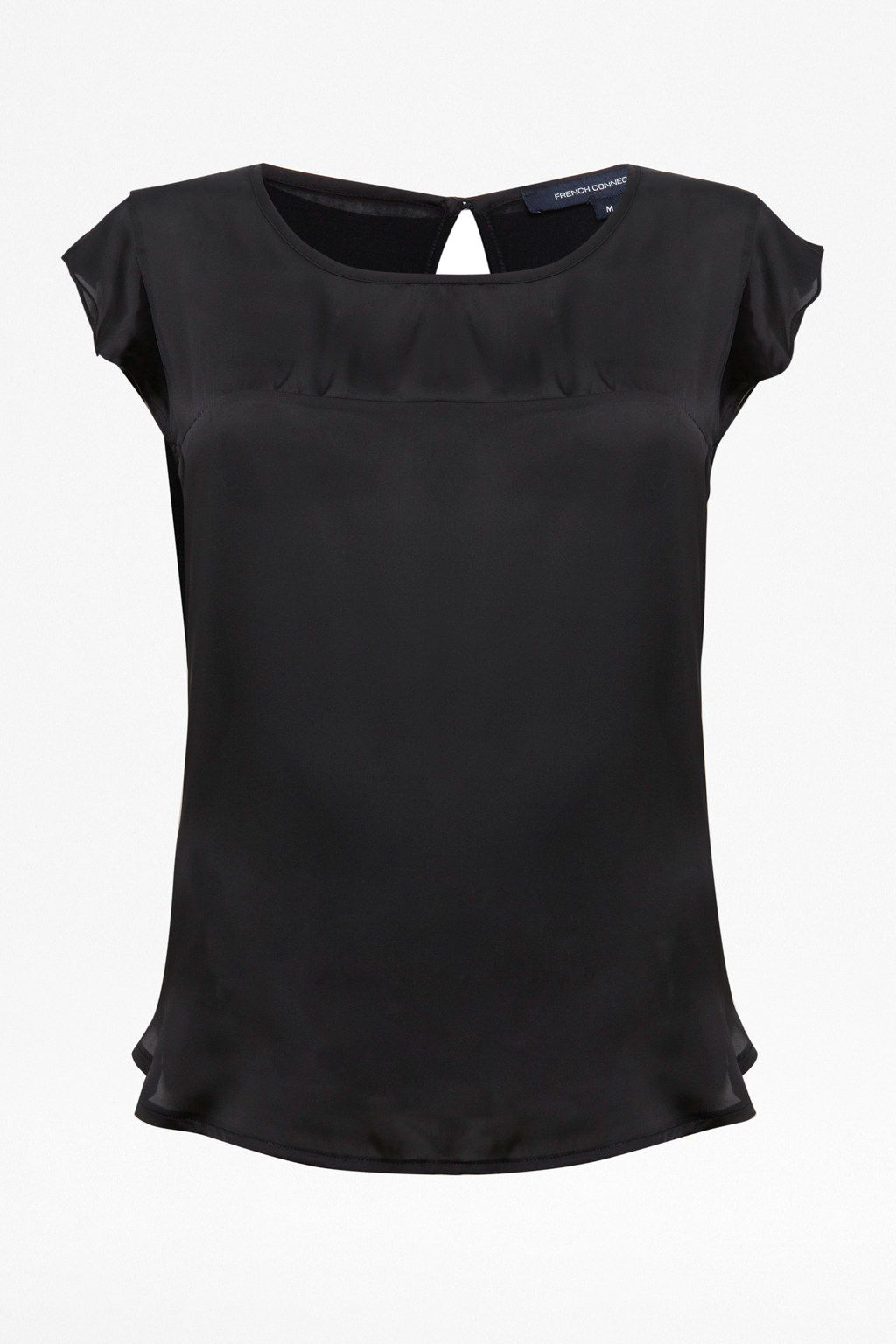 Polly plains satin pleated sleeve top