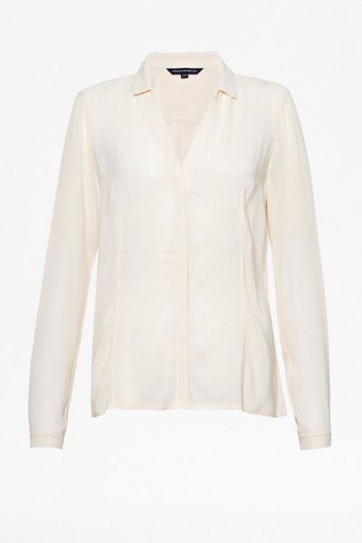 French Connection Classic whisper long sleeve shirt
