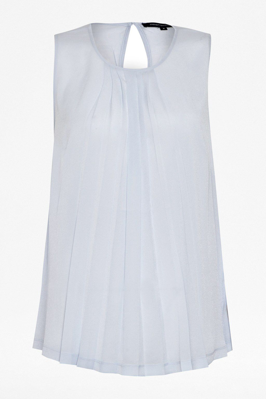 Polly plains pleats short sleeve top
