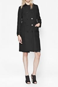 Talia wool double breasted fitted coat