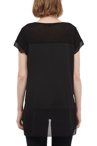 French Connection Polly plain raw edge t-shirt