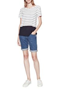 French Connection Polly plain striped top