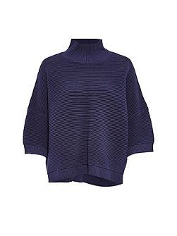 Spring Mozart High Neck Cotton Jumper