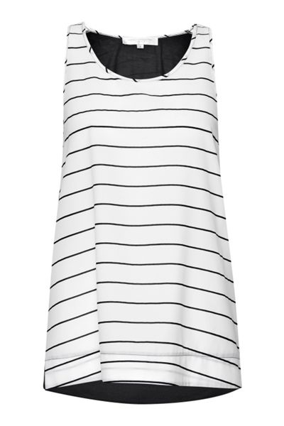 French Connection Polly Plains Striped Vest