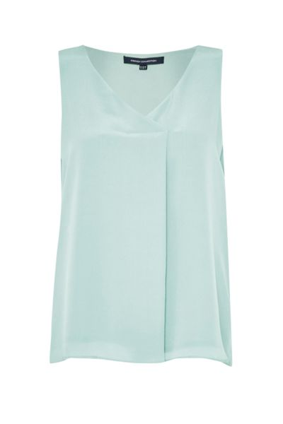 French Connection Sunshine Silk Sleeveless Top