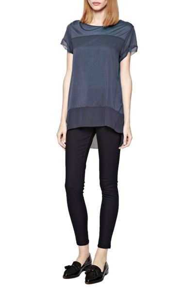 French Connection Polly Raw Edge Top